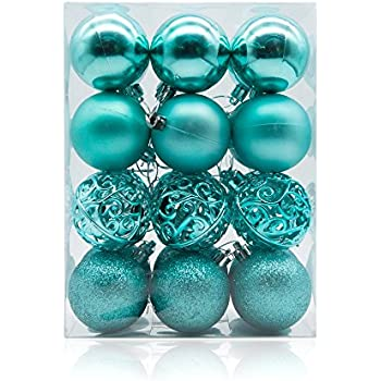 ams 60mm24ct christmas ball pierced trees pendant shatterproof ball ornament seasonal decorations ideal for xmas holiday and party widgets 236