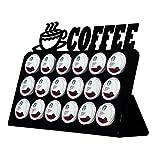 Marketing Holders Black 18 K Cup Dispenser Coffee Keurig & tree pod holder Acrylic by Marketing Holders