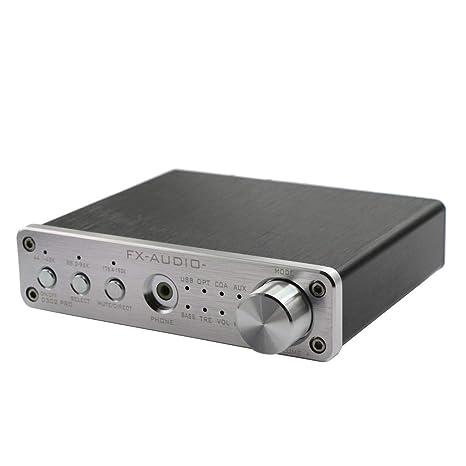 F Fityle Mini Portátil Amplificador Digital de Audio HiFi Dual Canales 2X 20w Convertidor de Fibra