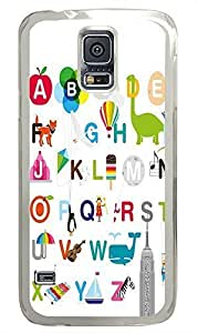Samsung S5 cases coolest 26 Letters Of The Alphabet PC Transparent Custom Samsung Galaxy S5 Case Cover