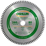 30mm arbor blade - Oshlun SBFT-260080 260mm 80 Tooth FesPro Crosscut ATB Saw Blade with 30mm Arbor for Festool Kapex KS 120