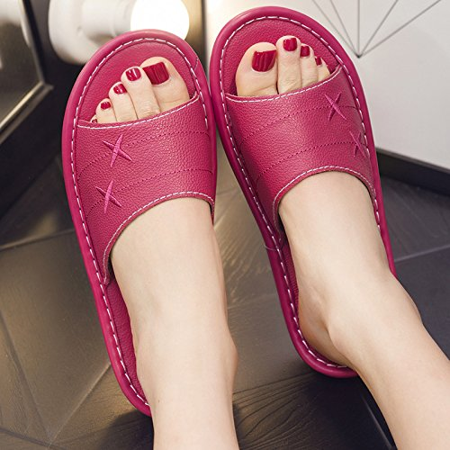 men 36 fankou in 35 Deodorization slippers home Slippers floor summer red anti home slip couples and women interior and qqwEaSr