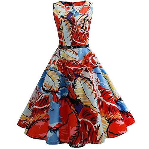 Cheryl Bull Elegant Women 50s 60s Retro Vintage Rockabilly Swing Robe Party Dresses with Belt,XX-Large,8 (40 Year Old Woman In Bathing Suits)