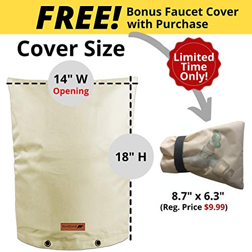 PHOENIX CABLES USA Pro Outdoor Backflow Preventer Insulation Cover for Winter Pipe Freeze Protection Multi-use Waterproof Pouch for Water Sprinkler Valve Box Meter or Controller 30 x 24, Beige