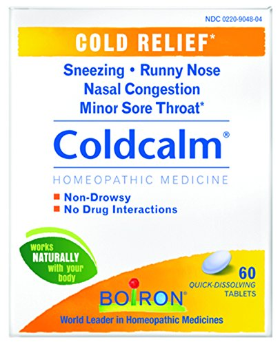 Tab 60 Sore Throat (Boiron Coldcalm, 60 Tablets, Homeopathic Medicine for Cold Relief)