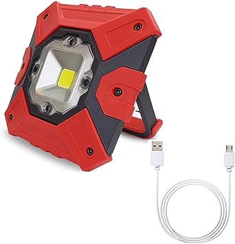 Foco LED Proyector 15W Batería Recargable 4400 Mah, 800LM Luz De ...