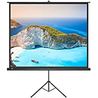 Projector Screen, TaoTronics Indoor and Outdoor Movie Screen 100 Inch Diagonal 4:3 with a Premium PVC Matte Design (Wrinkle-Free, Easy to Clean, 1.1 Gain, 160 Degree Viewing Angle)