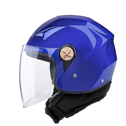 NJ Casco- Casco Motocicleta eléctrica Hombres y Mujeres Cuatro Estaciones Universal a Prueba de Viento