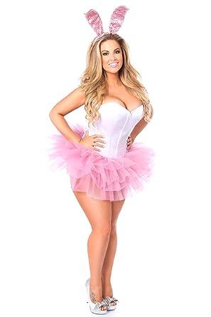 e03b1a84710a Amazon.com  Daisy Corsets Women s Lavish Innocent Bunny Corset Costume   Clothing