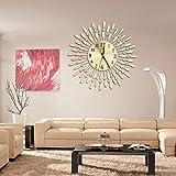 cici store Metal Modern Wall Clock - Luxury Diamond - Room Art Home Office Decor (gold)