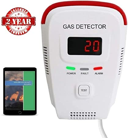 Portable LCD Gas Leak Detector LED Methane Combustible Natural Gas Tester Alarm