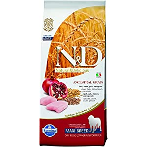 Farmina N&D Low Grain Chicken and Pomegranate Adult Food, 12 kg (Maxi)
