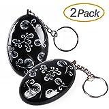 2 Pack Mengde 120db Emergency Personal Alarm Keychain for Women,Kids,Girls,Superior,Explorer Self Defense Electronic Device Bag Decoration