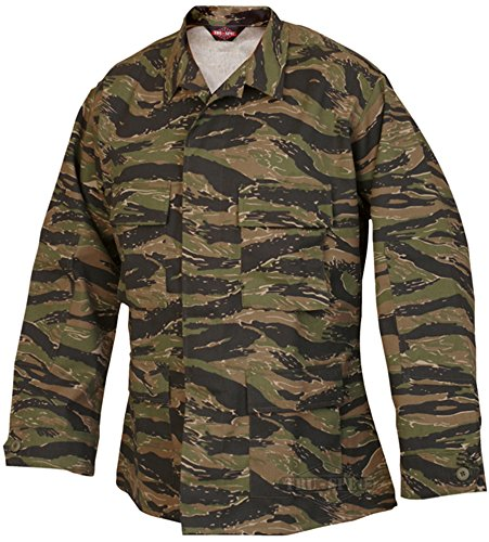 Tru-Spec BDU Coat CP Twill Vietnam Tiger Stripe XL-Reg 1619006 (Bdu Jacket Stripe Tiger)