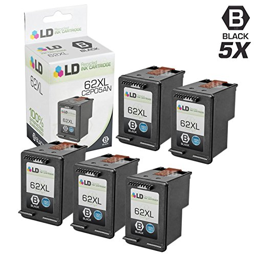 Remanufactured Replacements for HP C2P05AN / 62XL 5PK Black