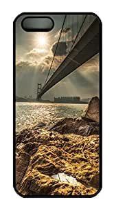 iPhone 5 5S Case Golden Gate Bridge PC Custom iPhone 5 5S Case Cover Black