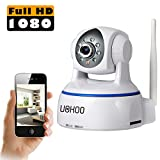 UOKOO Wireless Camera, Full HD 1080P WiFi Security Camera with Pan/Tilt, 2-Way Audio and Night Vision use for Pet Monitor, Puppy Cam, Baby Monitor, Nanny Camera and Wireless IP Camera(624GA)