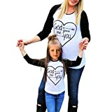 Daxin Mom & Daughter Letter Printed Long Sleeve Casual Shirt Family Clothes Outfits