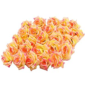 Hdecor Silk Cream Roses Flower Head 10