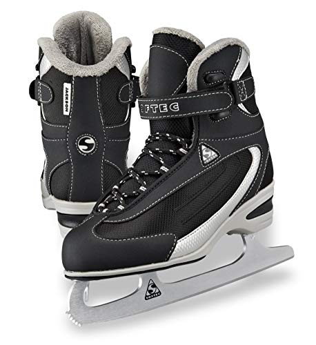 (Jackson Ultima Softec Classic ST2300 Womens and Girls Figure Ice Skates - Black, Size 8)