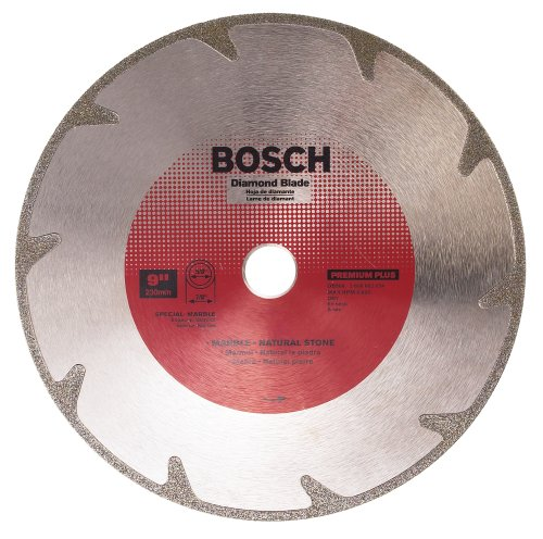 - Bosch DB968 Premium Plus 9-Inch Dry Cutting Continuous Rim Diamond Saw Blade with 7/8-Inch Arbor for Marble