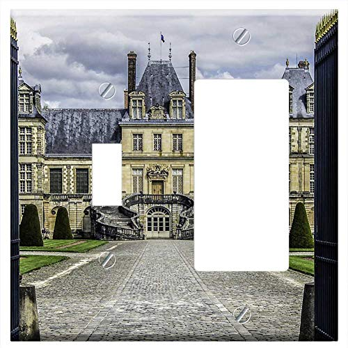 1-Toggle 1-Rocker/GFCI Combination Wall Plate Cover - Castle Of Fontainebleau Residence Royal Frenc
