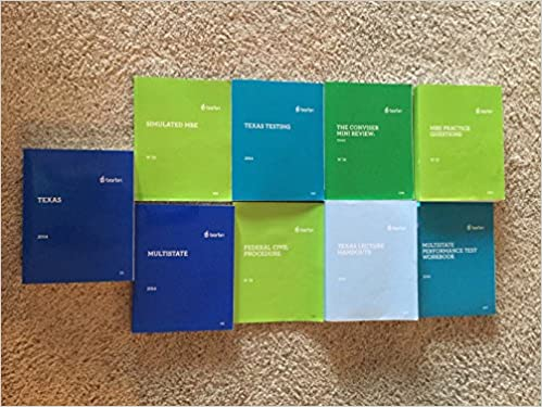 Barbri February 2015 Texas Bar Exam Complete Book Set - 9
