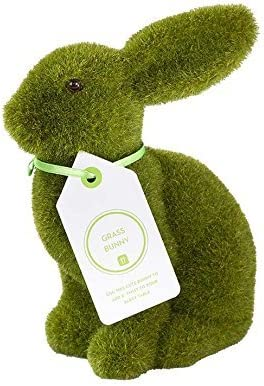 moss bunny figurine