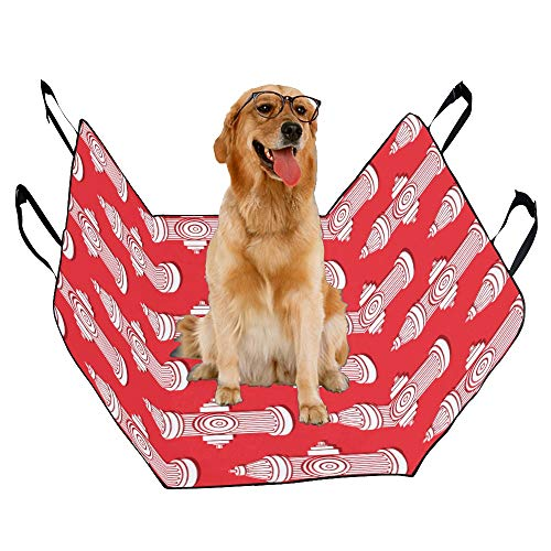 JTMOVING Fashion Oxford Pet Car Seat Fire Extinguisher Cartoon Waterproof Nonslip Canine Pet Dog Bed Hammock Convertible for Cars Trucks SUV