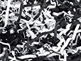 BLACK & WHITE Eco Fill Paper Shreds6 lb. BOX ~ 100% Recycled (2 unit, 1 pack per unit.)