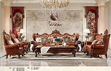 Ma Xiaoying Echtes Leder, Traditioneller Collection Wohnzimmer Möbel Set  (Sofa, Liebesschaukel Und 2