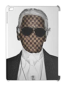 Karl WHO ? Karl Lagerfield Designer LV FACELESS iPad air plastic case