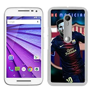 Motorola Moto G 3rd Generation Case ,lionel messi White Moto G 3rd Gen Cover Unqiue And Durable Custom Designed Phone Case