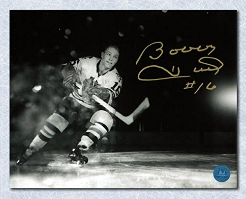 Signed Bobby Hull Picture - Rookie Net Cam Metallic 11x14 - Autographed NHL Photos