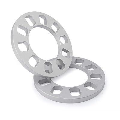 "dynofit 2pcs 12mm(1/2"") Universal Wheel Spacers for 5x108mm (5x4.25) 5x110 5x112 5x114.3mm(5 x4.5) 5x115mm 5x120.65(5 x 4.75) 5x120mm 5x127mm(5x 5) 5x130mm (108-130 PCD)5 Lug Nuts/Bolts Wheels: Automotive"