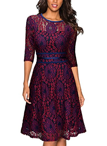 Miusol-Womens-Vintage-Floral-Lace-23-Sleeve-Cocktail-Evening-Party-Dress