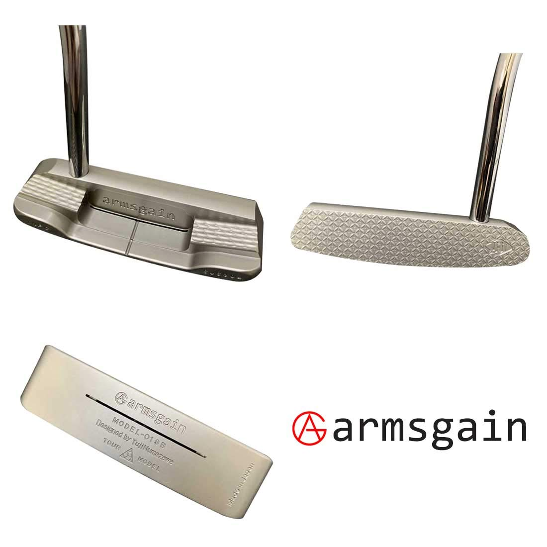 アームスゲイン(armsgain) パター Model-01【TourModel】 ブレードベンドネックタイプ 34インチ パター B07S239N4M