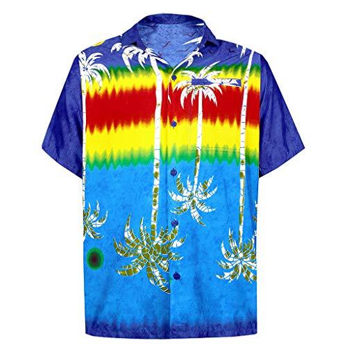 Shirts Hawaiian Short Sleeve Regular Fit Mens Floral