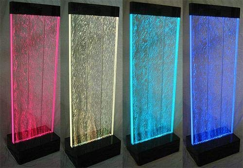 "Panel Water Fountain Floor (Jersey Home Decor 80"" Tall x 20"" Wide XXL Standing Bubble Panel, Water Fountain, Color Lights/Remote Ctrl)"
