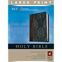 PREMIUM SLIM REFERENCE BIBLE NLT LARGE PRINT TUTONE LEATHER LIKE