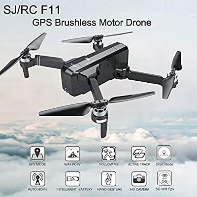 Aimik RC Quadcopter Selfie Drone SJRC F11, WiFi 1080P HD Camera Foldable Quadcopter Good Choice for Drone Training Beginners & Kids by Aimik