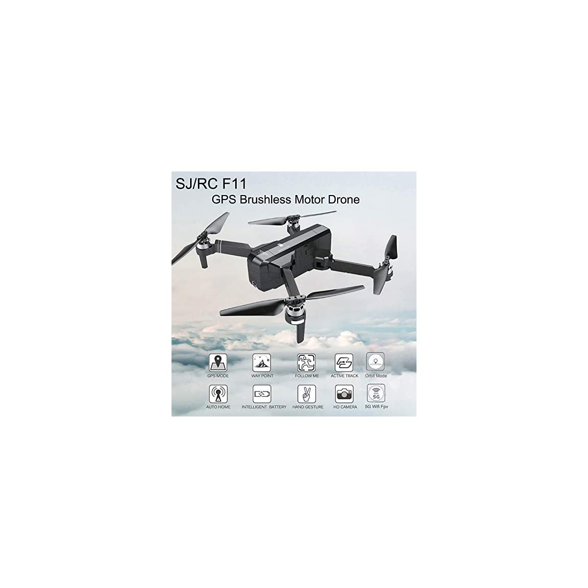 SaleProductsOffer - No.1 Best Online Store 51M8acs0VYL Aimik RC Quadcopter Selfie Drone SJRC F11, WiFi 1080P HD Camera Foldable Quadcopter Good Choice for Drone Training Beginners & Kids (Black)