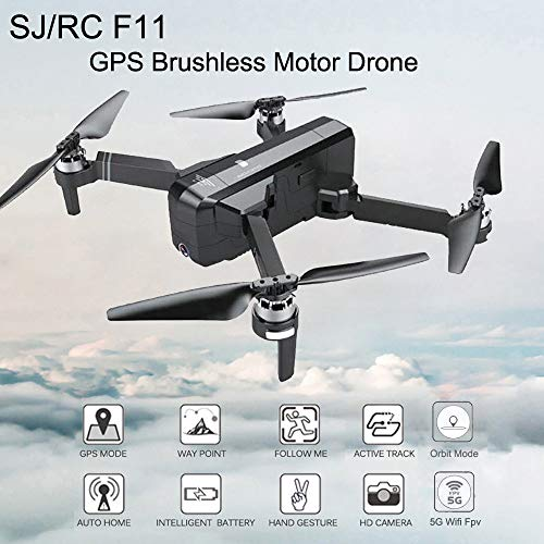 Pollyhb SJRC F11 GPS 5G WiFi FPV 1080P HD Cam Foldable Brushless RC Drone Quadcopter,Professional Remote Control Aircraft Intelligent Aerial Photography Brushless Drone