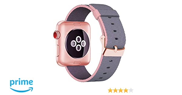 b718b5dd5 Amazon.com: Smart Watch Band, Cokier Newest Woven Nylon Band for Apple Watch  Series 38mm 1 & 2, Comfortably Light With Fabric-Like Feel Wrist Strap ...