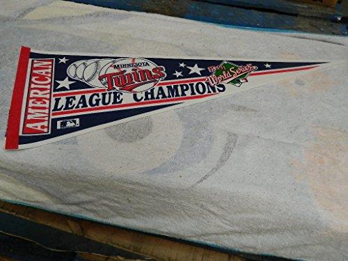1991 MINNESOTA TWINS AMERICAN LEAGUE CHAMPIONS BASEBALL PENNANT MINT !