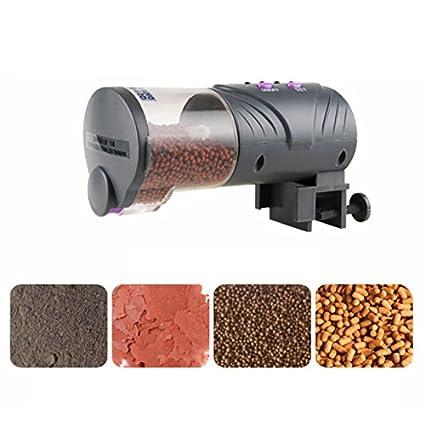 Petacc Alimentador Automatico Acuario Dispensador Comida Peces Alimentadores de Temporizador Multifuncionales para Acuario y Pecera