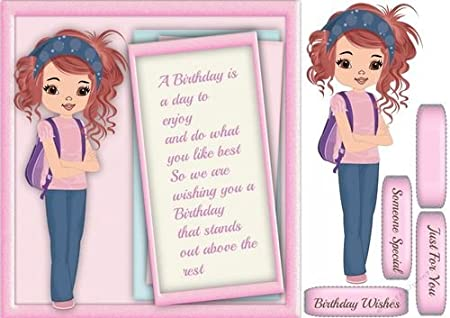 Brilliant Teenagers Birthday Wishes Girl By Ceredwyn Macrae Amazon Co Uk Funny Birthday Cards Online Alyptdamsfinfo