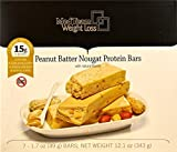 Peanut Butter Nougat Protein Bar (7 bars of 1.7 oz, net 12.01 oz) - High Protein Peanut Butter Nougat Bar