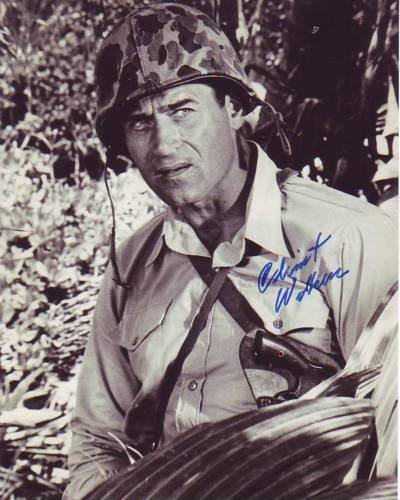 Walker Signed Photo - CLINT WALKER signed autographed NONE BUT THE BRAVE DENNIS BOURKE photo