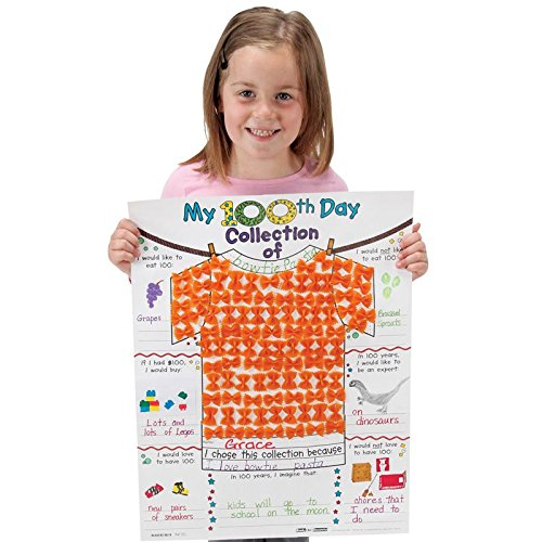 My 100th-Day-Collection Tee Ready-To-Decorate Posters - Set of 24